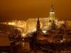 zima v Ceskem Krumlove v noci